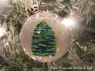 diy painted glass Christmas ornament
