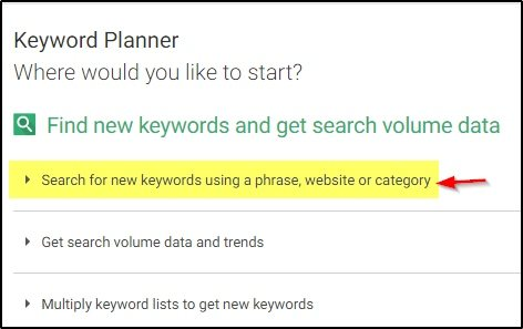 Search for new keywords pe click kare