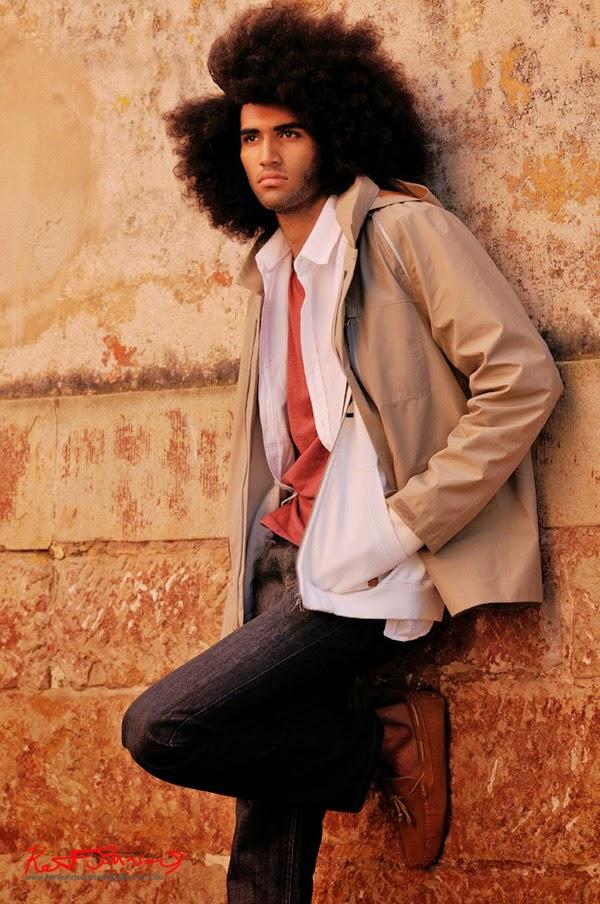 Kyrien in The Rocks Sydney wearing the Levis Commuter Parka - Model portfolio photography by Kent Johnson