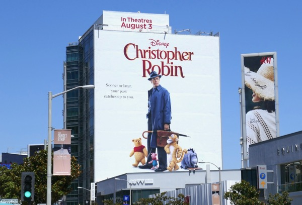 Giant Christopher Robin movie billboard