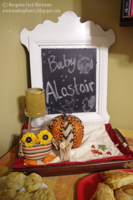 Woodland Creature Baby Shower table decor