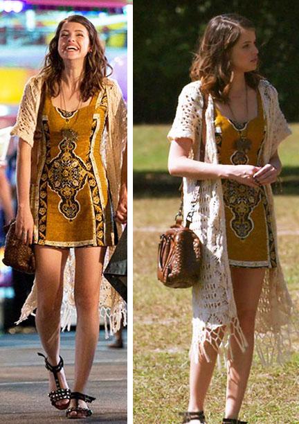 Figurino, Camila (Agatha Moreira) Haja Coração, kimono de crochê