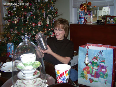 Mary Jollette and Christmas Shopping Bag