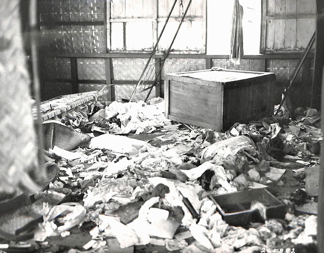 Interior of a house in Lipa ransacked by the Japanese in 1945.  Image source:  United States National Archives.