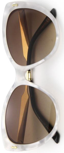 Gucci 57MM Acetate & Metal Cat's-Eye Sunglasses