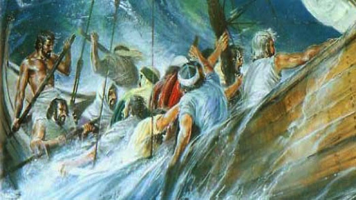 When the sea turned into a cauldron (a situation characterized by instability and strong emotions) of engulfing waves, the sailors lost their courage (Jonah 1:4-5).