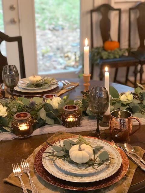 Beautiful Fall Table Setting Elegant Thanksgiving Ideas