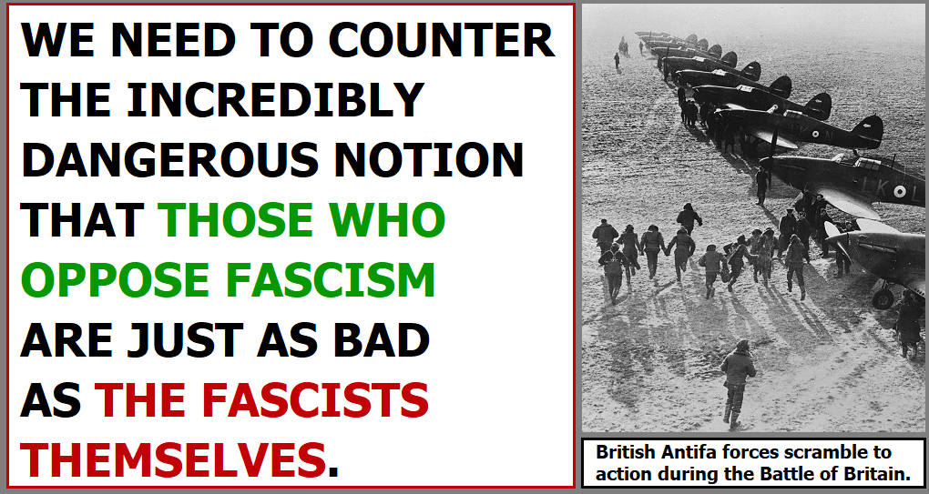 There Is No Moderate Centre Ground When It Comes To Fascism