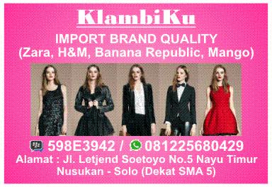 Usaha Pakaian Import KlambiKu - Import Brand Quality