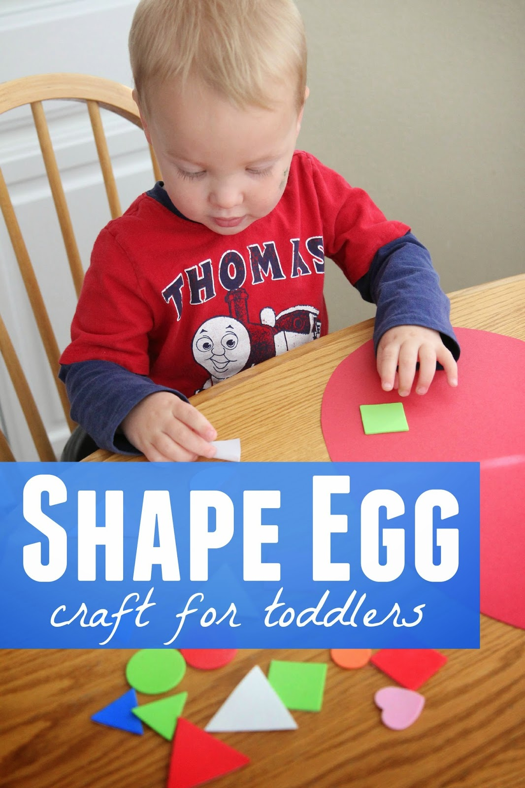 Toddler Approved Shape Egg Craft For Toddlers