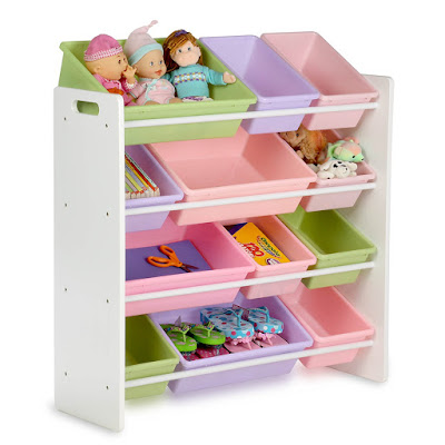 The perfect organizer for children's playrooms or bedrooms