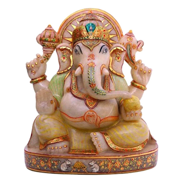 White Jade Ganesha Idol by Velvetcase.com Price Rs 64,979 on Ganesha Chaturthi