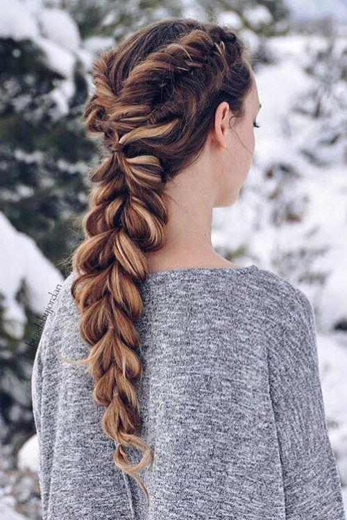 aqu las mejores imgenes de modernas trenzas con pelo largo invierno 2017como fuente de inspiracin - Trenzas Pelo Largo