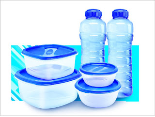 Amazon Princeware Sf Packg. Container Set, Set of 6, Blue