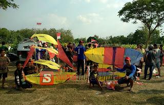 "Meriahnya Lomba ""Layangan"" di Desa Bendo Kecamatan Kapas"
