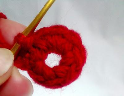 鎖の輪編み, crochet of a chain circle, 短针编织圆圈的开头,