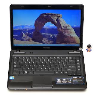Laptop Toshiba L640 Core i3-M370 Bekas Di Malang