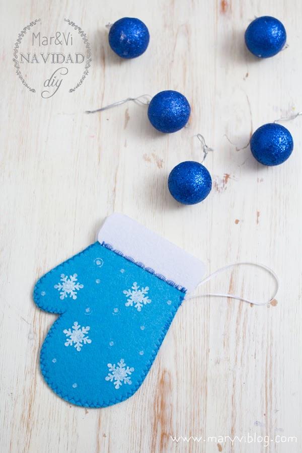Manualidades de Navidad, guante paso a paso