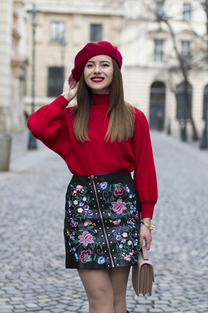 adina nanes red sweater