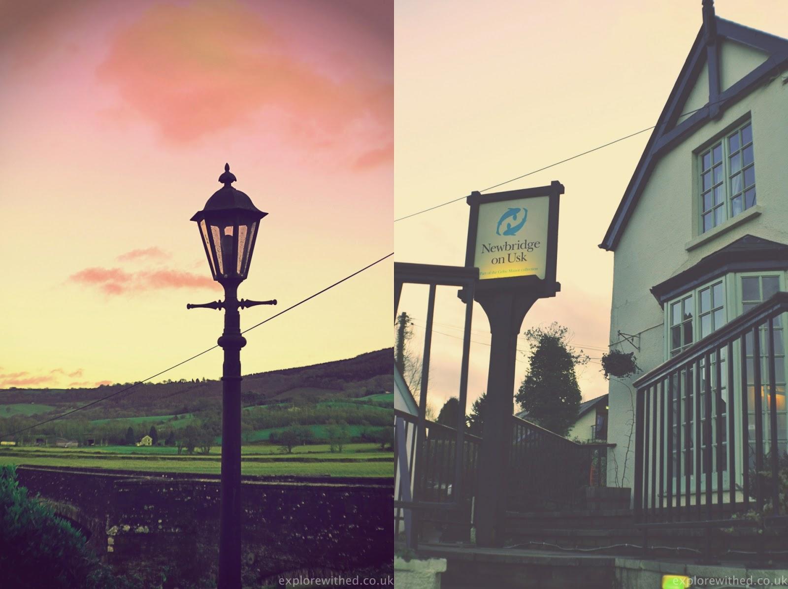 Old lamp outside Newbridge on Usk