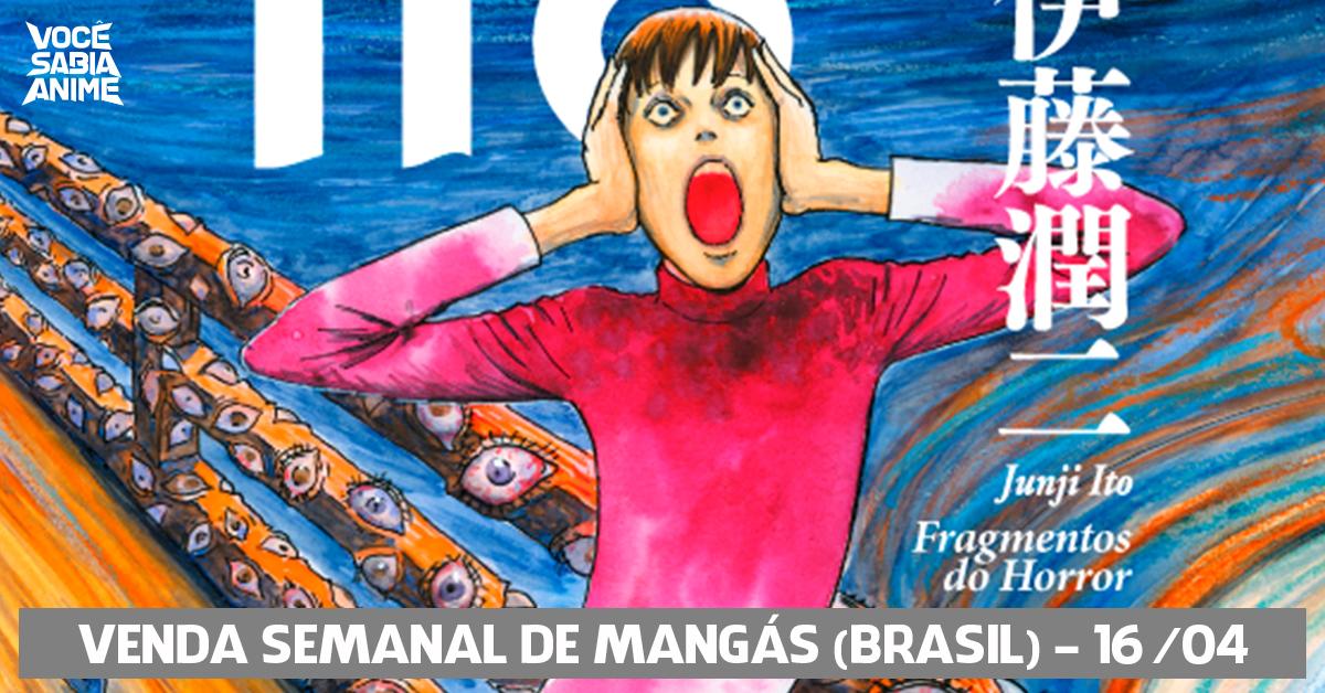 Ranking semanal de vendas de mangás no Brasil - 16-04-2018