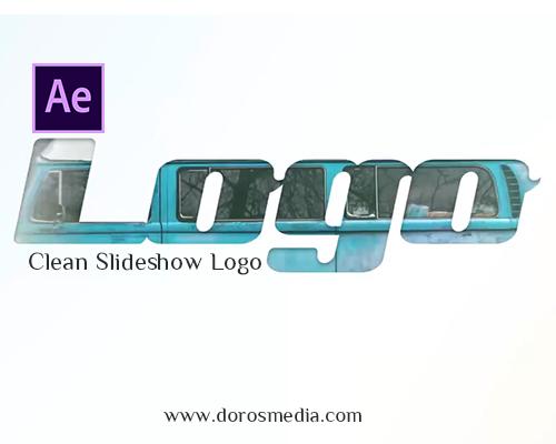 مشاريع افترافكت مشروع افترافكت احترافي  سلايد شو لعرض الصور واظهار اللوغو  Clean Slideshow Logo