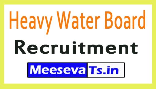 Heavy Water Board HWB Recruitment