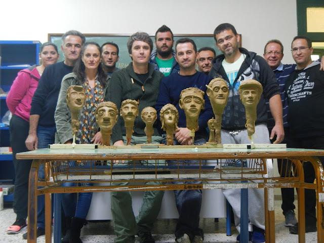 Δημιουργίες των σπουδαστών της ΣΕΚ Επιδαύρου από πηλό και μάρμαρο