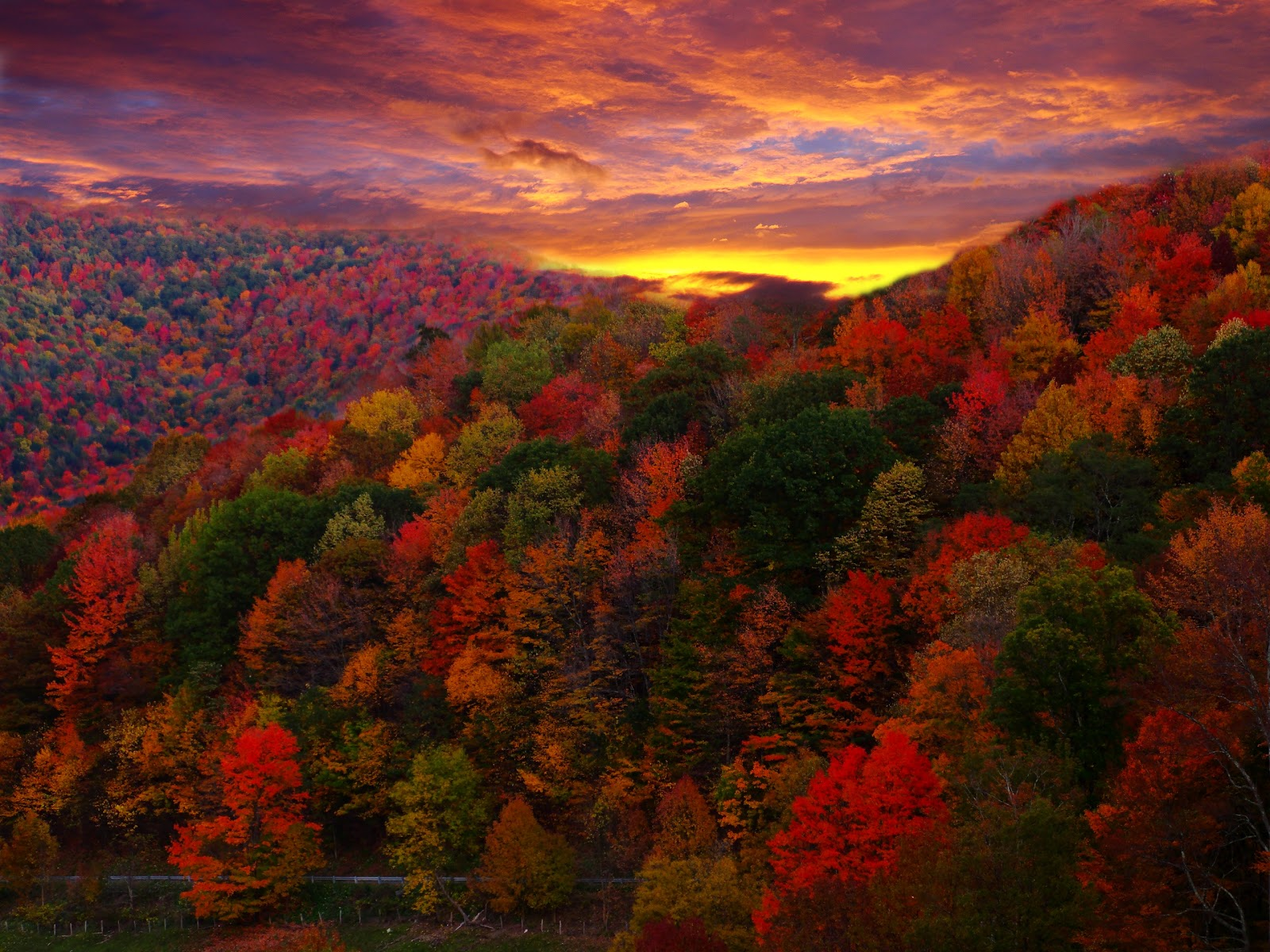 Autumn mountain scenes images autumn posters picture - Pics of fall scenes ...