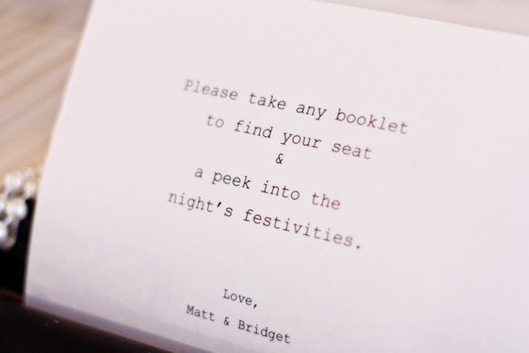 This welcome wedding note in the typewriter is cute for guests to see.
