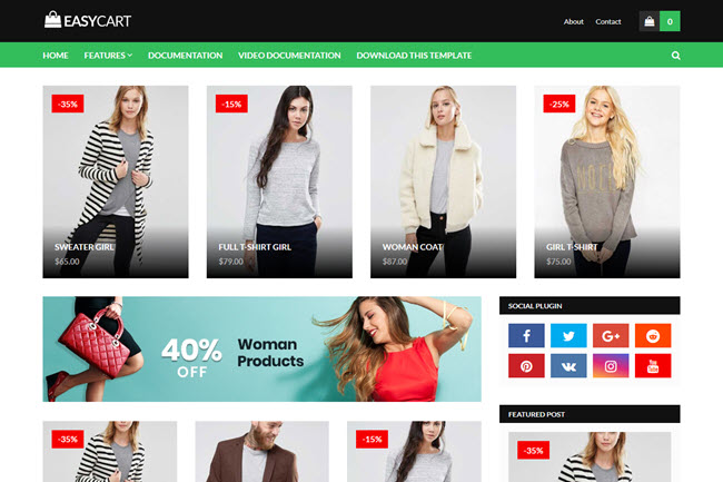 Easy Cart – Responsive Shop Blogger Template