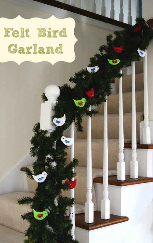felt bird garland