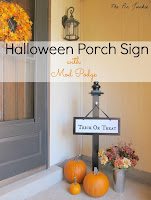 Halloween tick-or-treat porch sign