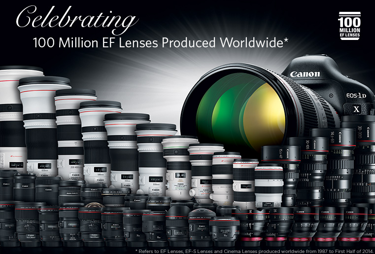 Canon Achieves A World First As Production Of EF Interchangeable Lenses Surpasses 100 Million Mark