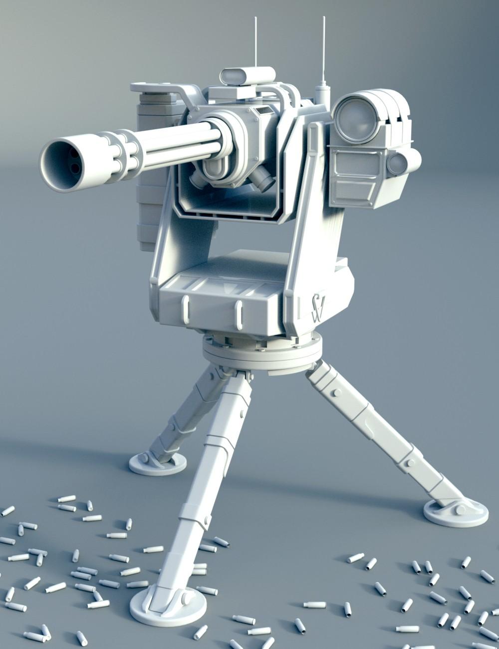 Download DAZ Studio 3 for FREE!: DAZ 3D - Sentry Gun