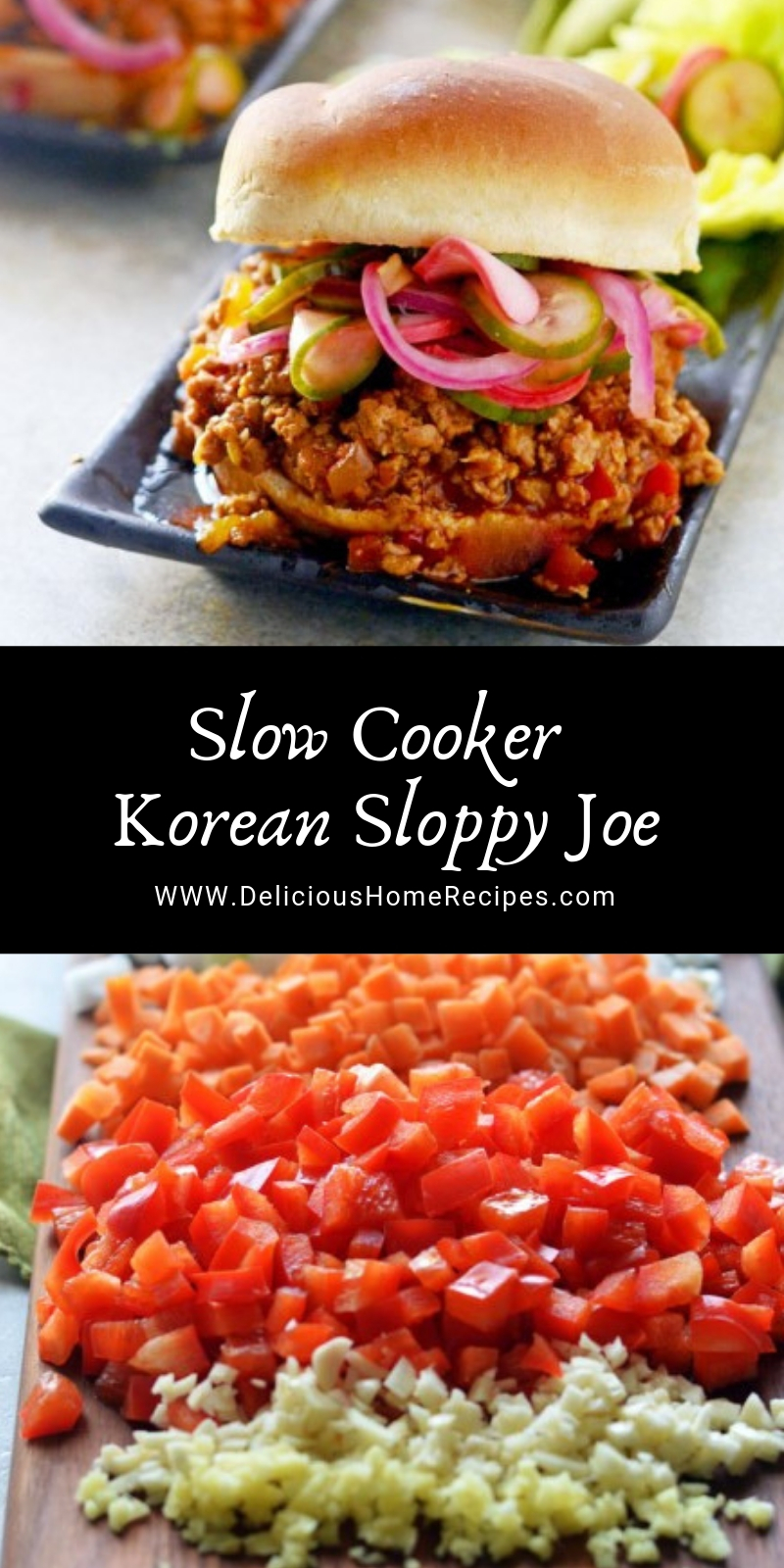 Slow Cooker Korean Sloppy Joe