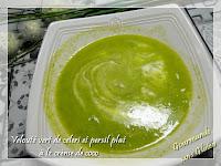 soupe - Velouté vert de celeri et persil plat à la crème de coco