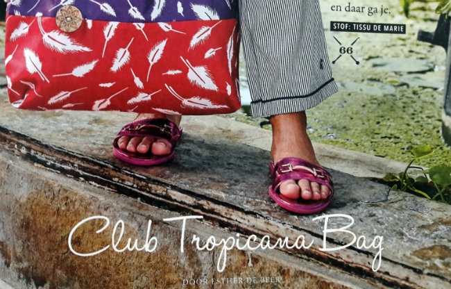 Yarn 3 bookazine, the tropical issue. Sewing pattern Club Tropicana Bag | Happy in Red