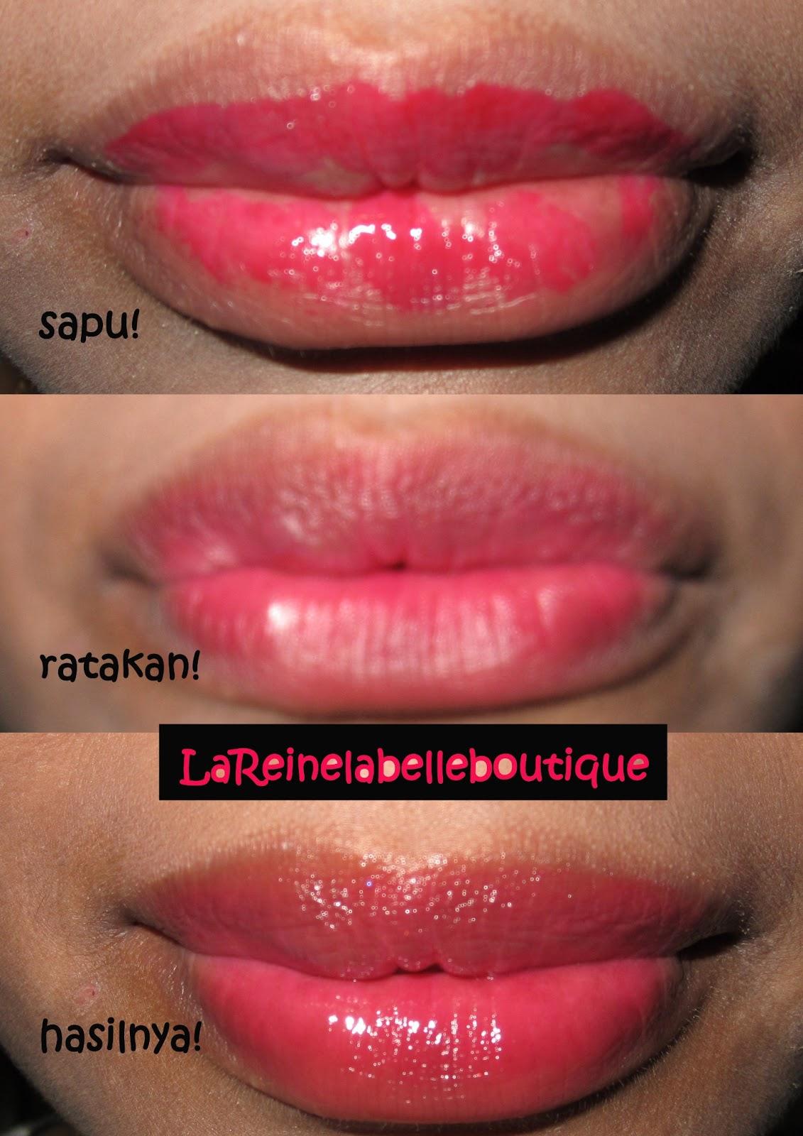 Pink lip tint