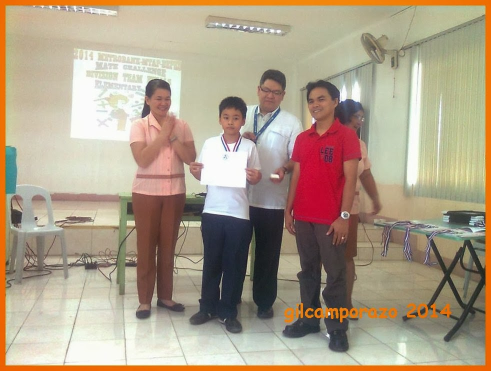 Grade V MTAP Math challenge winner of La Carlota South 1 ES