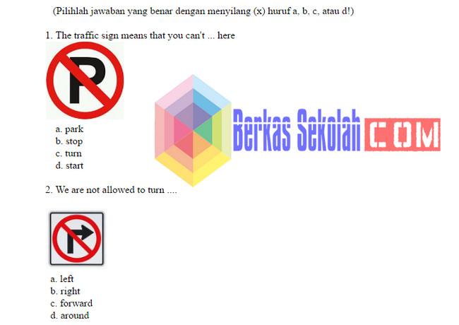 Soal UAS Bahasa Inggris SD Kelas 6 Kurikulum 2013 dengan Kunci Jawaban