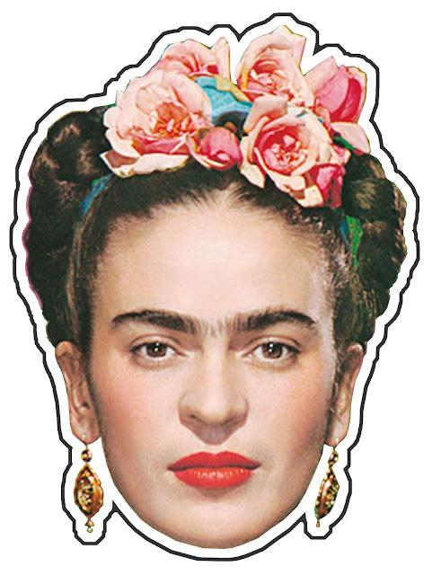 Máscaras de Frida Kahlo para Imprimir Gratis.