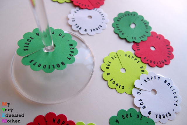 Party Idea: DIY Stamped Wine Tags
