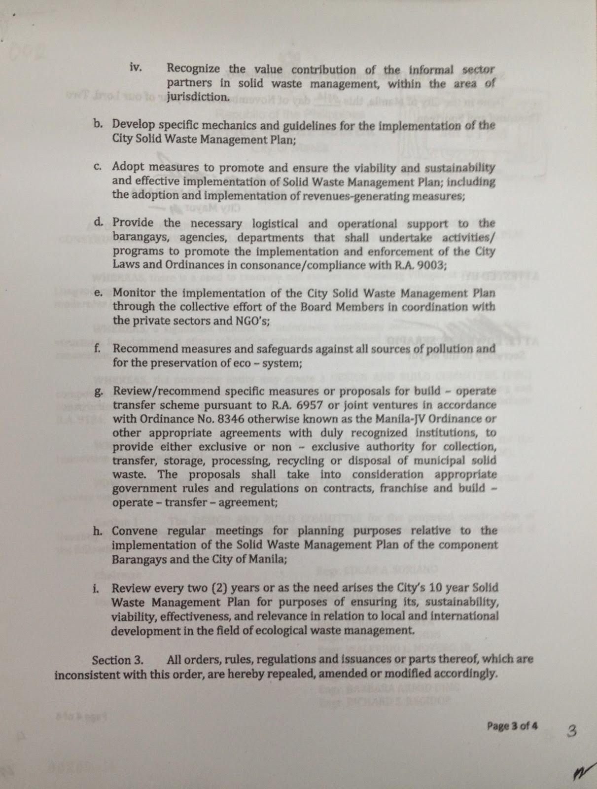 Deped Memorandum no 76 series of 2010 Policies And