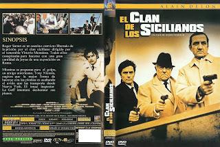 Carátula - El clan de los sicilianos - Alain Delon