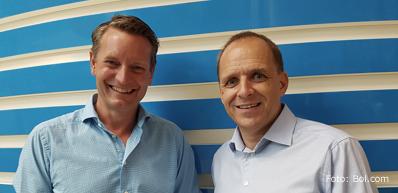 Daniel Ropers en zijn opvolger Huub Vermeulen (Directie Bol.com)