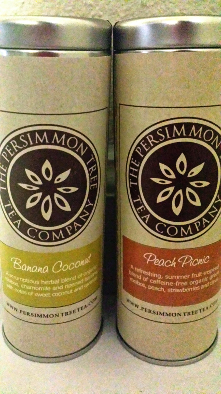 The Persimmon Tree Tea Company Peach Picnic and Banana Coconut Review via ProductReviewMom.com