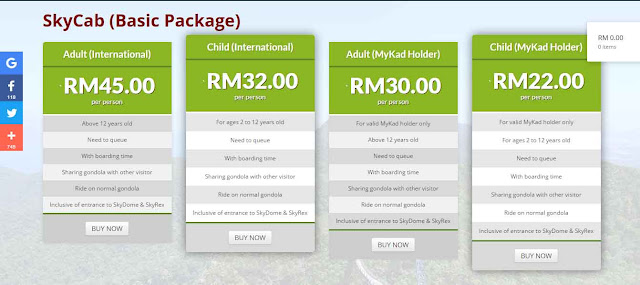 HARGA TIKET CABLE CAR LANGKAWI !