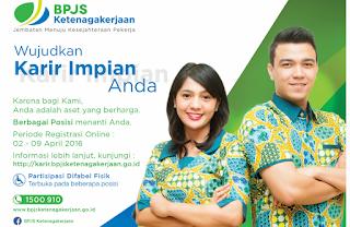 Informasi Lowongan Kerja Terbaru BPJS Ketenagakerjaan Tahun 2016