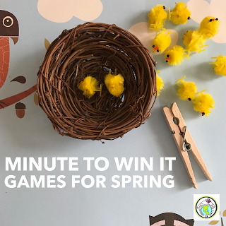 Minute to Win it Games for Spring STEM